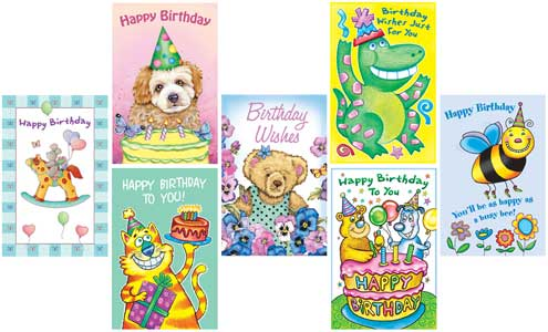 Adorable kids birthday cards!
